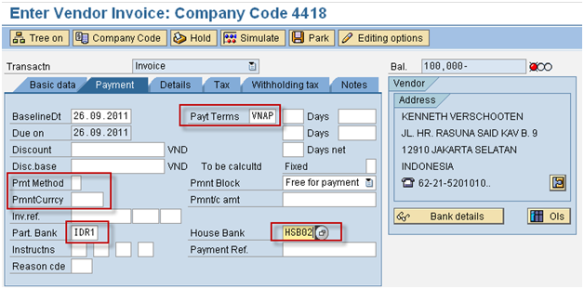 Multiple vendor bank accounts and automatic payment programs
